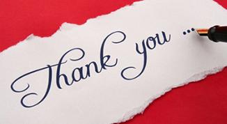Thanks Letter----Best Encouragement for CUCAS